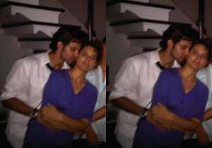 An intimate picture of Kangana Ranaut and Hrithik Roshan from a party has gone viral. In the photo, 'Krrish' is seen embracing 'Queen' suggesting that they once had a relationship. If the original pictures are anything to go by, this could well be the case here. A new set of photographs that emerged today evening indicate that the party where the duo were clicked was not a private affair after all. The original picture shows a person next to Hrithik and Kangana, and it is not a private moment, something which the image gone viral suggested. In fact, more photographs have surfaced from the same party to prove that it was not a private affair at all. Have a look:- India Tv