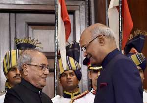 Newly appointed President Ram Nath Kovind and his
