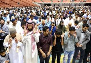 More than 5,000 Muslims attended the Eid Mudarak in Anaheim, California. The event was put on by the Islamic Institute of Orange County.