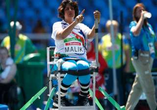 India's Deepa Malik gestures as she competes in the women's final shot put F53 athletics event during the Paralympic Games at the Olympic Stadium in Rio de Janeiro, Brazil, Monday, Sept. 12, 2016. Malik won the silver medal.
