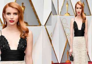 American actress and singer, Emma Roberts stunned everyone with her gracious look at 89th Annual Academy Awards at Highland Center in Hollywood, California. The Hollywood star grabbed all attention in her eye-catching vintage Armani Privé creation