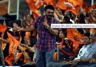 With Wednesday being a holiday on account of Ramanavmi, the stadium was full to its capacity much before the beginning of the opening ceremony. Bollywood actor Daggubati Venkatesh was also spotted during the opening ceremony of IPL 10.