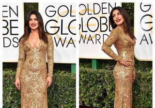 Priyanka Chopra attended the Golden Globe Awards wearing a gorgeous, golden, Ralph Lauren gown. The actress looked ethereal in this look as she got ready to be presenter for the big night.