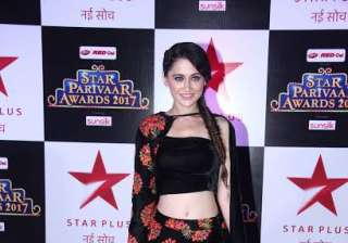 Sanjeeda Sheikh donned black outfit with floral embroidery over it. She looked gorgeous as she posed for the shutterbugs.