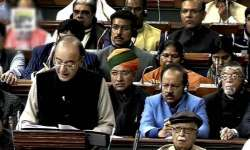 Finance Minister Arun Jaitley presenting Union Budget- India Tv