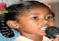 The seven-year-old girl Preethi