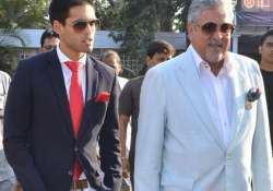 Vijay Mallya with son Sid Mallya