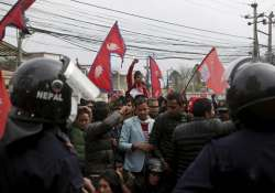 Nepalese students shout slogans against India near Indian