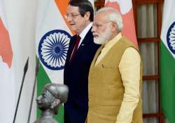 PM Modi with Cyprus Prez Nicos Anastasiades at the
