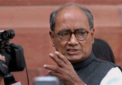 The TRS has hit out at Digvijay and asked him to withdraw