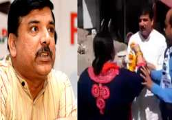 AAP's Sanjay Singh slapped by woman party worker