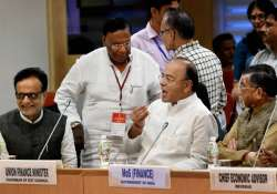 Jaitley at the 17th GST Council Meeting on Sunday