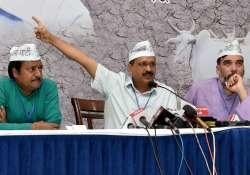 Kejriwal and others party leader at party Kisan Sammelan