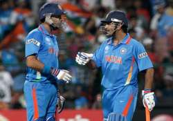Yuvraj Singh and MS Dhoni during a match`