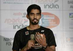 Kidambi Srikanth during a media event