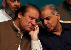 Former Pak PM Nawaz Sharif with brother Shahbaz