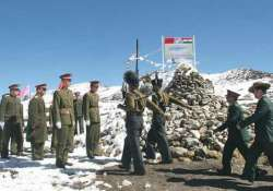 Chinese soldiers are said to have attempted to cross the