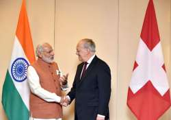 Swiss President Johann Schneider with PM Modi