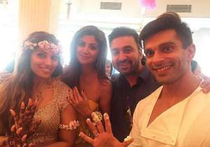 Shilpa Shetty at Bipasha Basu's wedding- India Tv