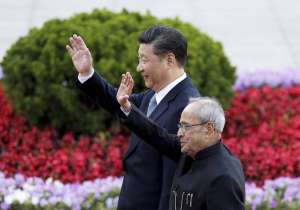 Xi Jinping and Pranab Mukherjee - India Tv