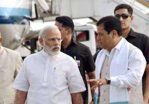 Sonowal with PM Modi- India Tv