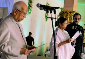 Mamata Banerjee taking oath of office- India Tv