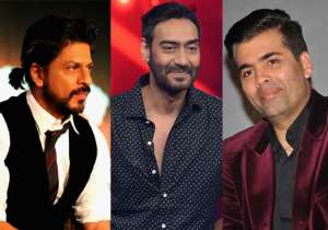 Shah Rukh Khan, Ajay Devgn and Karan Johar- India Tv