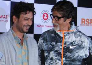 Irrfan Khan with Amitabh Bachchan- India Tv