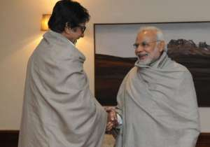 Big B and PM Modi- India Tv