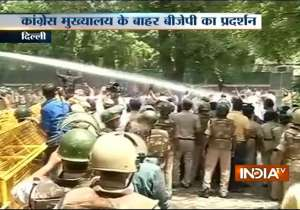Batla House encounter: BJP stages protest outside Congress office, demands apolo- India Tv