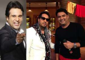 Krushna Abhishek, Mika Singh with Kapil Sharma- India Tv