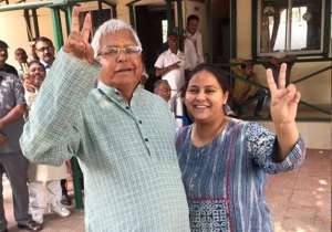 Lalu Yadav replaces Rabri Devi with Misa Bharti as RS candidate- India Tv