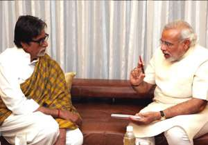 Amitabh Bachchan and Narendra Modi- India Tv