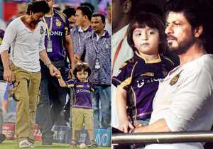 Shah Rukh Khan and Abram- India Tv
