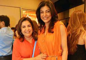 Sushmita Sen with Farah Khan- India Tv