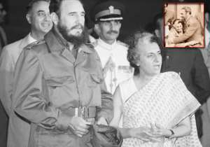 When Fidel Castro gave a bear hug to a surprised Indira- India Tv