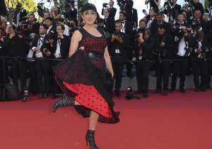 Spanish actress Rossy de Palma didn't quite nail her red carpet look.
