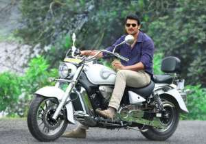 The biker look suits Prabhas to the fullest.