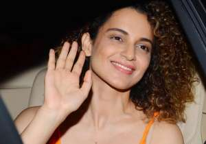 Kangana Ranaut looked pretty as she waved to the camera.