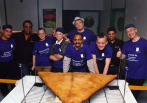 UK mosque breaks Guinness World Record for biggest samosa
