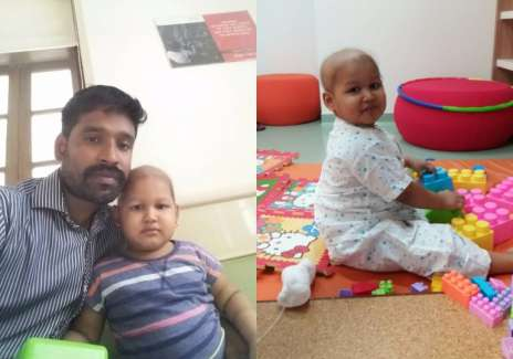 Aadya was diagnosed with B - Cell Acute Lymphoblastic