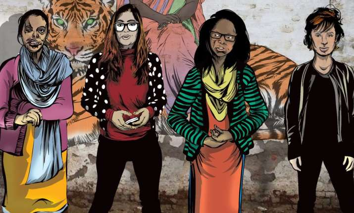 Comic book based on acid attack victims