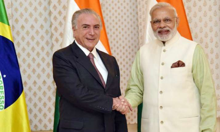 PM Modi with Brazillian president