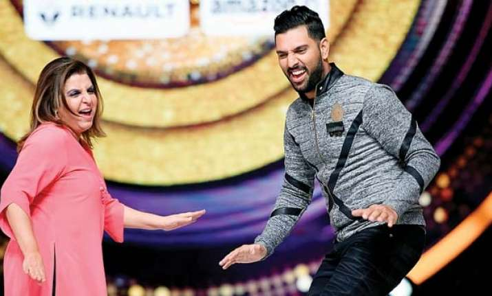Farah Khan, Yuvraj Singh- India Tv