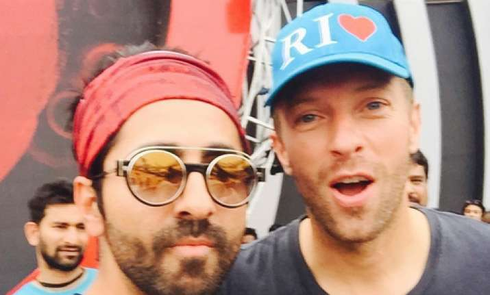 Ayushmann Khurrana on sharing stage with Chris Martin