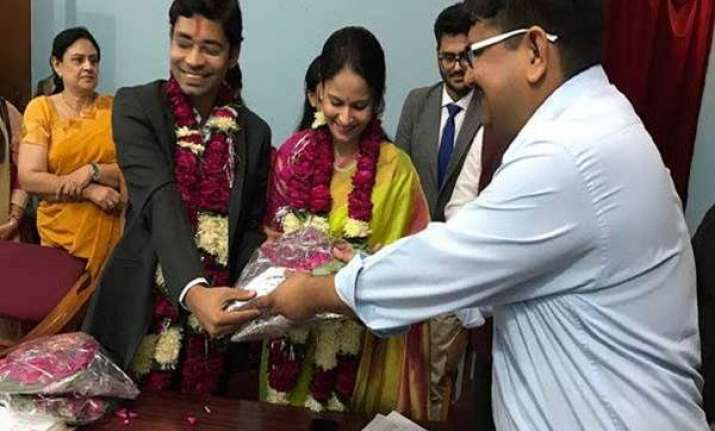 IAS couple Ashish Vashishta and Saloni Sidana during their