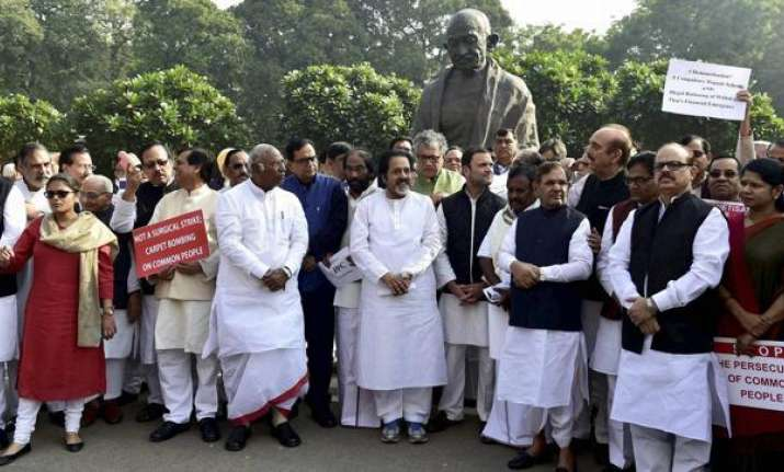MPs protest outside Parliament on Wednesday over the