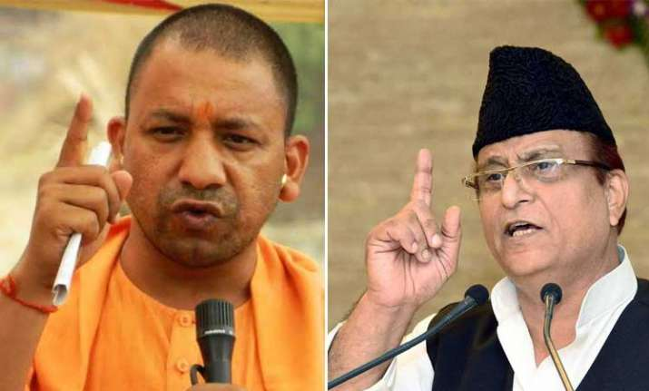 Yogi Adityanath and azam Khan