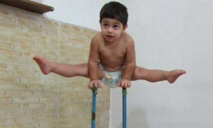 Spiderman in real life 3-year old body climbs a 10-feet