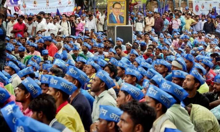 Absconding Bhim Army chief appears at Dalit protest, says